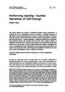 Performing Identity: Touristic Narratives of Self-Change - Chaim Noy's ...