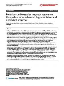 Perfusion cardiovascular magnetic resonance - ScienceOpen