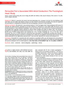 Pericardial Fat is Associated With Atrial Conduction - AHA Journals