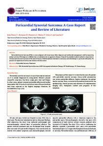 Pericardial Synovial Sarcoma: A Case Report and Review of Literature
