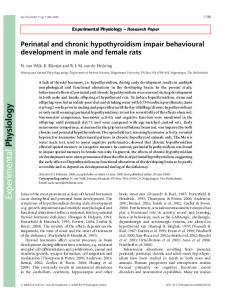 Perinatal and chronic hypothyroidism impair ... - Wiley Online Library
