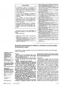 Perinatal characteristics in relation to incidence of and ... - Europe PMC