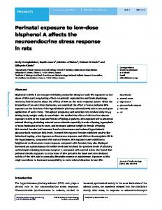 Perinatal exposure to low-dose bisphenol A affects the ...