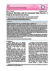 Perinatal Mortality and Its Associated Risk Factors - Iranian Journal of ...