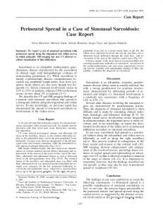 Perineural Spread in a Case of Sinonasal Sarcoidosis: Case Report