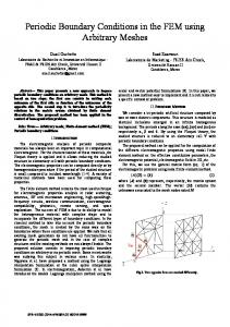 Periodic Boundary Conditions in the FEM using Arbitrary Meshes ...