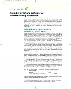 Periodic Inventory Systems for Merchandising Businesses