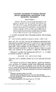 periodic solutions of linear second order differential equations with ...