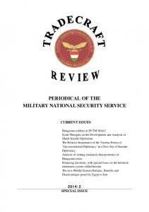 periodical of the military national security service