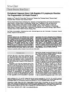 Periodontal Ligament Stem Cells Regulate B ... - Wiley Online Library