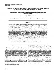 periodontal profile and presence of periodontal pathogens in ... - SciELO