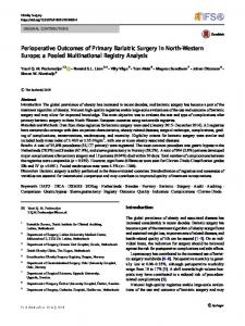 Perioperative Outcomes of Primary Bariatric Surgery in ... - Helse Bergen