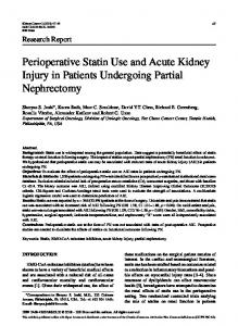 Perioperative Statin Use and Acute Kidney Injury in ... - IOS Press
