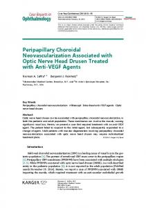 Peripapillary Choroidal Neovascularization Associated ... - CiteSeerX
