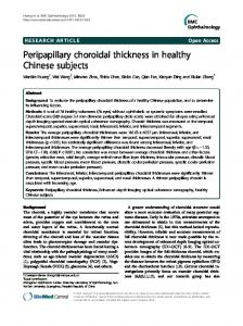 Peripapillary choroidal thickness in healthy