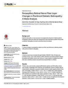 Peripapillary Retinal Nerve Fiber Layer Changes in Preclinical ... - Plos