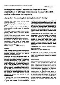 Peripapillary retinal nerve fiber layer thickness distribution in ... - Core