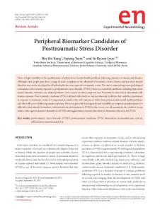 Peripheral Biomarker Candidates of ... - KoreaMed Synapse