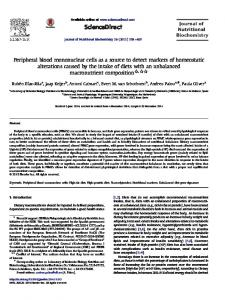 Peripheral blood mononuclear cells as a source to ...