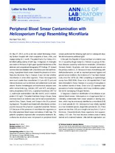 Peripheral Blood Smear Contamination with