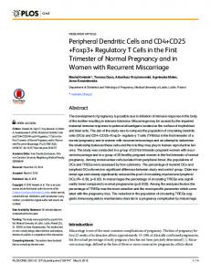 Peripheral Dendritic Cells and CD4+CD25+Foxp3+ ... - PLOS