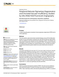 Peripheral Reticular Pigmentary Degeneration and Choroidal ... - PLOS