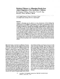 Peripheral Tolerance to Alloantigen Results from ... - BioMedSearch