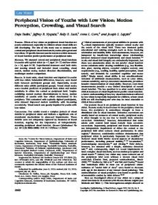 Peripheral Vision of Youths with Low Vision - Brain & Cognitive Sciences