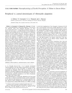 Peripheral vs. central determinants of vibrotactile adaptation