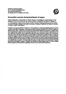 Permeability evolution during densification of magma