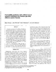 Permeability prediction with artificial neural network ...