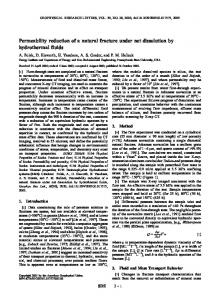 Permeability reduction of a natural fracture under net dissolution by ...