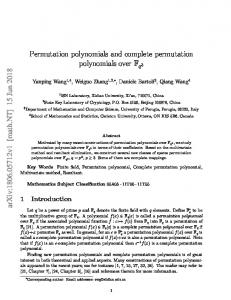 Permutation polynomials and complete permutation polynomials over