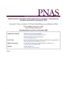 peroxidase determined by paramagnetic NMR c and ... - SBRC