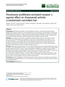 Peroxisome proliferator-activated receptor - BioMedSearch