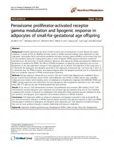Peroxisome proliferator-activated receptor gamma ... - BioMedSearch