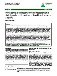 Peroxisome proliferator-activated receptors and