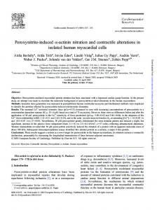 Peroxynitrite-induced a-actinin nitration and ... - Semantic Scholar