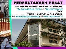 perpustakaan pusat - File UPI - Universitas Pendidikan Indonesia