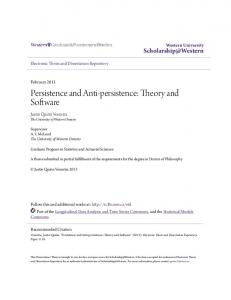 Persistence and Anti-persistence: Theory and Software
