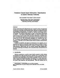 Persistent Content-based Information Dissemination in Hybrid ...
