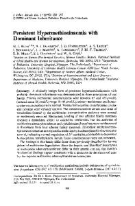 Persistent hypermethioninaemia with dominant ... - Springer Link