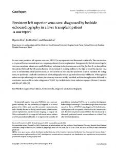 Persistent left superior vena cava: diagnosed by ... - Semantic Scholar