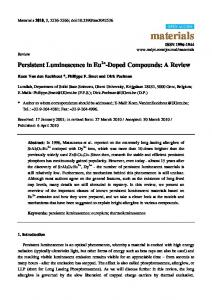 Persistent Luminescence in Eu2+-Doped Compounds