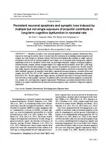 Persistent neuronal apoptosis and synaptic loss induced by multiple ...
