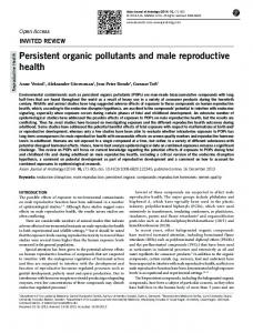 Persistent organic pollutants and male reproductive ... - BioMedSearch