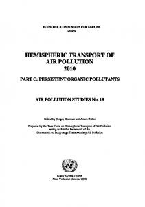 Persistent Organic Pollutants - htap.org