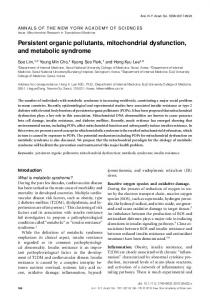 Persistent organic pollutants, mitochondrial ... - Wiley Online Library
