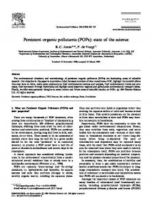 Persistent organic pollutants (POPs): state of the ... - Semantic Scholar