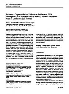 Persistent Organochlorine Pollutants (POPs) and ...